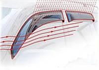 """Вітровики """"AZARD""""  Lanos 4D  (на клей) ПК/еластичні (комплект)"""