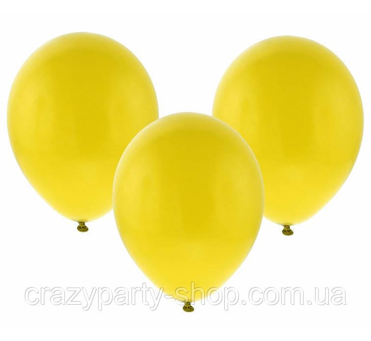 Воздушный шарик 10 дюймов жёлтый