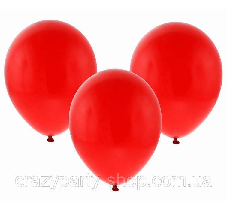 Воздушный шарик 10 дюймов красный