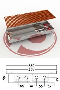 Внутрипольные  конвекторы  POLVAX KEM 90