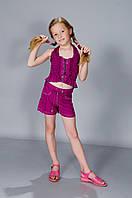 Детский летний костюм топ и шорты для девочки