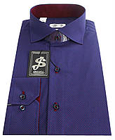 Рубашка приталенная мужская c принтом  №S 55.3, фото 1