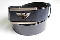 Синий брендовый ремень 'Giorgio Armani' 40 мм