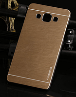 Металлический золотой чехол Motomo для Samsung Galaxy A5, фото 1