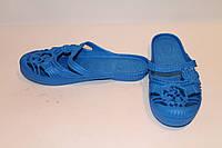 Шлепанцы женские синие оптом
