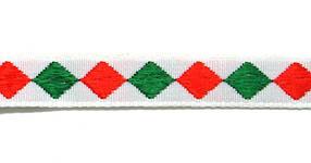 Лента тканная 1 см./2 цвета;белая основа.