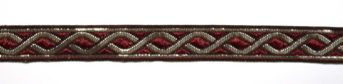 Лента тканная 2-х цветная, шир. 1 см