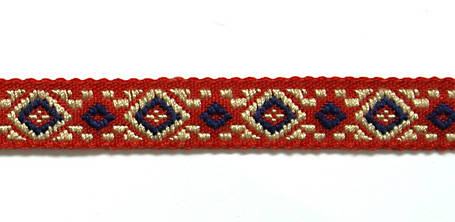 Лента тканная 2-х цветная, шир. 1 см, фото 2