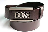 Брендовый коричневый ремень 'Boss'