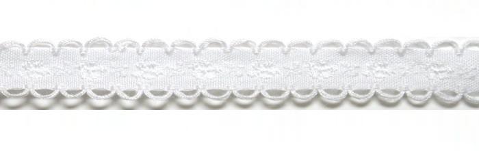 Лента тканная 1 см/1 цвет;белая основа6.