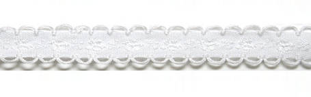 Лента тканная 1 см/1 цвет;белая основа6., фото 2