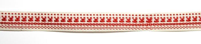 Лента тканная 1 см/1 цвет;белая основа5.