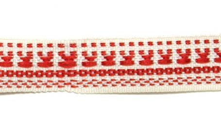 Лента тканная 1 см/1 цвет;белая основа5., фото 2