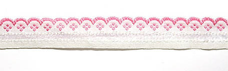 Лента тканная 1 см/1 цвет;белая основа4, фото 2