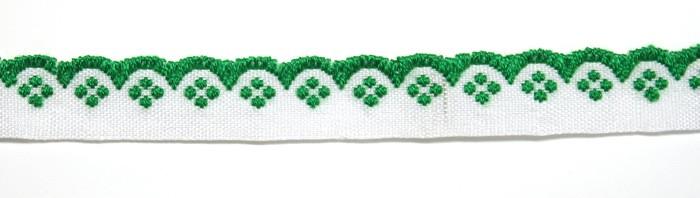 Лента тканная 1 см./1 цвета;белая основа.