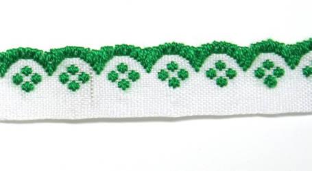 Лента тканная 1 см./1 цвета;белая основа., фото 2