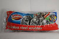 Мочалка для мытья посуды из нержавеющей стали 3шт