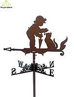 Флюгер на крышу Кот с ребенком (Кiт з дитиною), Харьков