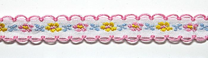 Лента тканная 1 см/3 цвета;белая основа5.