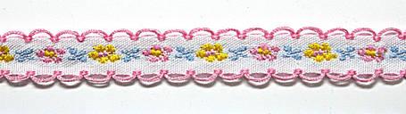 Лента тканная 1 см/3 цвета;белая основа5., фото 2