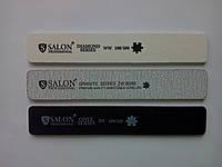 Пилочка для ногтей Salon 100/180 широкая черная