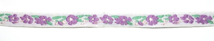 Лента тканная 1 см/3 цвета;белая основа3