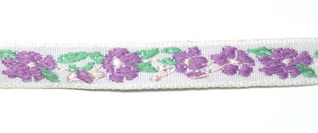 Лента тканная 1 см/3 цвета;белая основа3, фото 2