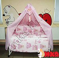 Детское постельное белье  Bonna Комфорт Мишки-домики розовый