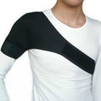 Турмалиновый наплечник на одно плечо черный