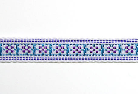 Лента тканная 1 см/2 цвета;белая основа, фото 2