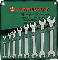 Набор ключей рожковых 6-22 мм, 8 предметов JONNESWAY (W25108S)