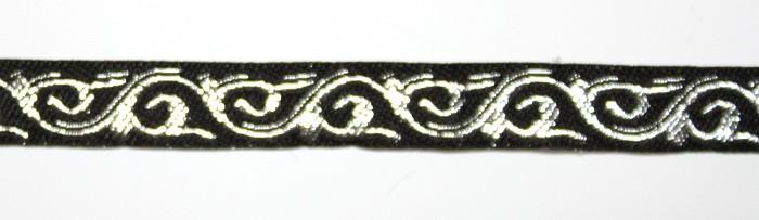 Лента тканная 1 см/1 цвет;чёрная основа2.