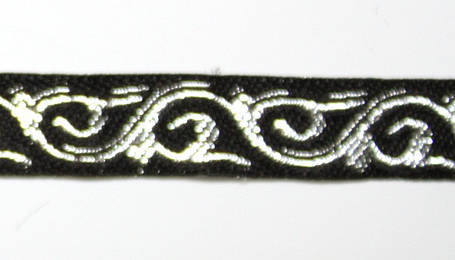 Лента тканная 1 см/1 цвет;чёрная основа2., фото 2