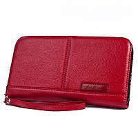 Кожаный клатч Issa Hara CL2 red (с кистевым ремнем)