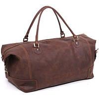 Кожаная дорожная сумка большая С-2 коричневая