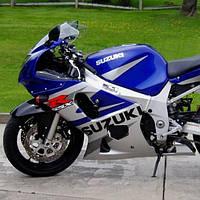Набор наклеек Suzuki gsx-r 600 2002, (пластик синий-серебро)