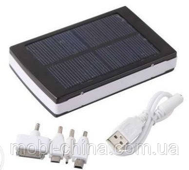 Solar Power bank 20000 mAh - универсальная солнечная батарея  с переходниками, фото 2