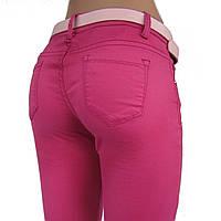 Джинсы / брюки женские узкие, розовые