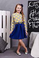 Интересное платье для девочки с юбкой в складки