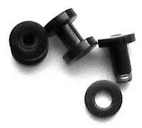 Тоннель 2мм для украшения пирсинга ушей(цена за 1 шт) (медицинская сталь с титановым покрытием)