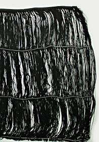 Бахрома танцевальная 60 см-черная, боб. 10 м.