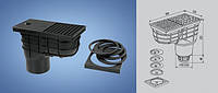 Трап сливной LSVDN 125 мм(черный) Haco