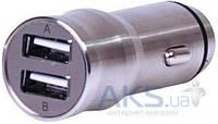 Зарядное Nomi Автомобильное ЗУ 3.1А макс. Метал (CC05312)