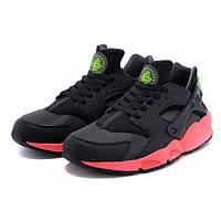 """Кроссовки Nike Huarache """"Black Red Green"""" (Копия ААА+), фото 1"""