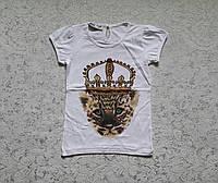 Турецкая футболка на девочек 116,122,128,134,140 роста Корона
