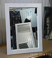 Зеркало в деревянной раме с ручкой,низкое(для обуви)