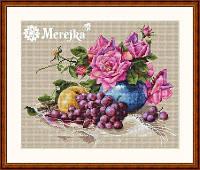 Мережка Набор для вышивки крестом  Натюрморт з виноградом К-20