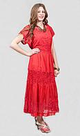 Платье женское с кружевным украшением