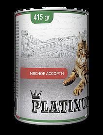 PLATINUM Meat мясная сбалансированная консерва для кошек, 415 гр