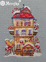 Мережка Зимовий будиночок Набор для вышивки крестом  К-51